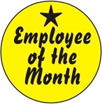 Employee of the Month - Hard Hat Labels are constructed from Durable, Pressure Sensitive Vinyl or Engineer Grade Reflective for maximum day or nighttime visibility.