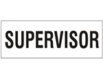 Supervisor - Hard Hat Labels are constructed from Durable, Pressure Sensitive Vinyl or Engineer Grade Reflective for maximum day or nighttime visibility.