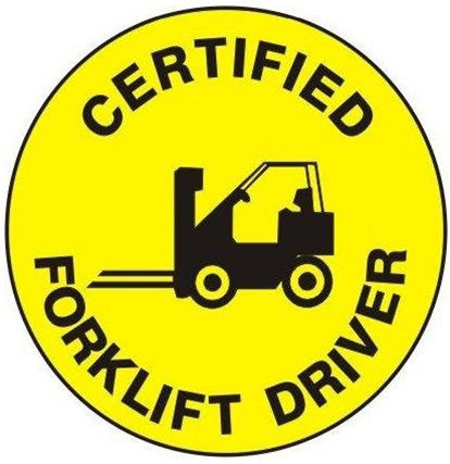 Certified Forklift Driver - Hard Hat Labels are constructed from Durable, Pressure Sensitive Vinyl or Engineer Grade Reflective for maximum day or nighttime visibility.