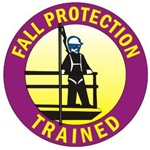 Fall Protection Trained - Hard Hat Labels are constructed from Durable, Pressure Sensitive Vinyl or Engineer Grade Reflective for maximum day or nighttime visibility.