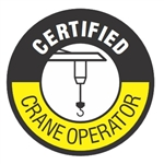 Certified Crane Operator - Hard Hat Labels are constructed from Durable, Pressure Sensitive or Reflective Vinyl, Sold 25 per pack