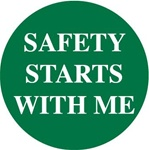 Safety Starts With Me - Hard Hat Labels are constructed from Durable, Pressure Sensitive Vinyl, Sold 25 per pack