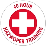 40 Hour Hazwoper Training - Hard Hat Labels are constructed from Durable, Pressure Sensitive Vinyl, Sold 25 per pack