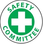 Safety Committee - Lock it Out - Hard Hat Labels are constructed from Durable, Pressure Sensitive Vinyl, Sold 25 per pack