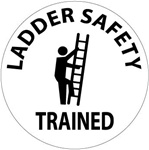 Ladder Safety Trained - Hard Hat Labels are constructed from Durable, Pressure Sensitive Vinyl, Sold 25 per pack