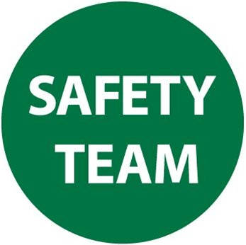 Safety Team - Hard Hat Labels are constructed from Durable, Pressure Sensitive Vinyl, Sold 25 per pack