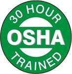 30 Hour OSHA Trained - Hard Hat Labels are constructed from Durable, Pressure Sensitive Vinyl or Engineer Grade Reflective , Sold 25 per pack