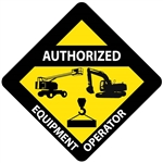 Authorized Equipment Operator Hard Hat Labels are constructed from Durable, Pressure Sensitive Vinyl or Engineer Grade Reflective for maximum day or nighttime visibility.