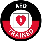 AED Trained Hard Hat Labels are constructed from Durable, Pressure Sensitive Vinyl or Engineer Grade Reflective for maximum day or nighttime visibility.