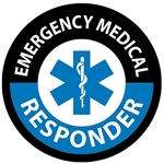 Emergency Medical Responder - Hard Hat Labels are constructed from Durable, Pressure Sensitive Vinyl, Sold 25 per pack