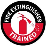 Fire Extinguisher Trained - Hard Hat Labels are constructed from Durable, Pressure Sensitive Vinyl or Engineer Grade Reflective for maximum day or nighttime visibility.