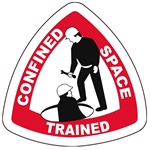 Confined Space Trained - Hard Hat Labels are constructed from Durable, Pressure Sensitive Vinyl or Engineer Grade Reflective for maximum day or nighttime visibility.