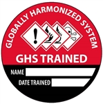 Globally Harmonized System (GHS) Trained- Hard Hat Labels are constructed from Durable, Pressure Sensitive Vinyl or Engineer Grade Reflective for maximum day or nighttime visibility.