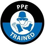 PPE, Personal Protective Equipment Trained - Hard Hat Labels are constructed from Durable, Pressure Sensitive Vinyl or Engineer Grade Reflective for maximum day or nighttime visibility.