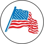 American Flag - Hard Hat Labels are constructed from Durable, Pressure Sensitive Vinyl, Sold 25 per pack