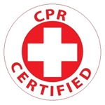 CPR Certified - Hard Hat Labels are constructed from Durable, Pressure Sensitive Vinyl, Sold 25 per pack