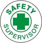Safety Supervisor - Hard Hat Labels are constructed from Durable, Pressure Sensitive Vinyl, Sold 25 per pack