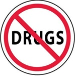 No Drugs - Hard Hat Labels are constructed from Durable, Pressure Sensitive Vinyl, Sold 25 per pack