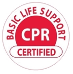 Basic Life Support CPR Certified - Hard Hat Labels are constructed from Durable, Pressure Sensitive Vinyl, Sold 25 per pack