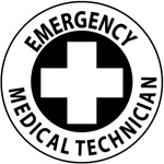 Emergency Medical Technician - Hard Hat Labels are constructed from Durable, Pressure Sensitive or Reflective Vinyl, Sold 25 per pack