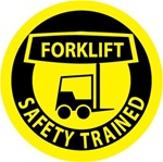 Forklift Safety Trained - Hard Hat Labels are constructed from Durable, Pressure Sensitive Vinyl, Sold 25 per pack