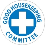 Good Housekeeping Committee - Hard Hat Labels are constructed from Durable, Pressure Sensitive Vinyl, Sold 25 per pack