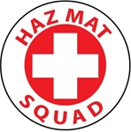 Hazmat Squad - Hard Hat Labels are constructed from Durable, Pressure Sensitive or Reflective Vinyl, Sold 25 per pack