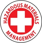Hazardous Materials Management - Hard Hat Labels are constructed from Durable, Pressure Sensitive Vinyl, Sold 25 per pack