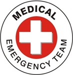 Medical Emergency Team - Hard Hat Labels are constructed from Durable, Pressure Sensitive Vinyl, Sold 25 per pack