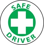 Safe Driver Hard Hat Labels are constructed from Durable, Pressure Sensitive Vinyl, Sold 25 per pack