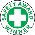 Safety Award Winner - Hard Hat Labels are constructed from Durable, Pressure Sensitive Vinyl, Sold 25 per pack