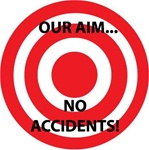 Our Aim No Accidents - Hard Hat Labels are constructed from Durable, Pressure Sensitive Vinyl, Sold 25 per pack
