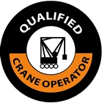 Qualified Crane Operator - Hard Hat Labels are constructed from Durable, Pressure Sensitive Vinyl, Sold 25 per pack