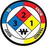 Right To Know Trained - NFPA Hard Hat Labels are constructed from Durable, Pressure Sensitive Vinyl, Sold 25 per pack