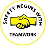 Safety Begins With Teamwork - Hard Hat Labels are constructed from Durable, Pressure Sensitive Vinyl, Sold 25 per pack