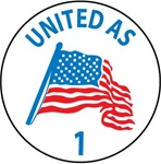 United as 1 - Hard Hat Labels are constructed from Durable, Pressure Sensitive Vinyl, Sold 25 per pack