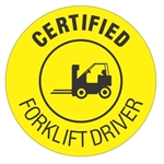 Certified Forklift Driver - Hard Hat Labels are constructed from Durable, Pressure Sensitive or Reflective Vinyl, Sold 25 per pack
