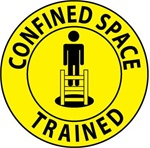 Confined Space Trained - Hard Hat Labels are constructed from Durable, Pressure Sensitive or Reflective Vinyl, Sold 25 per pack