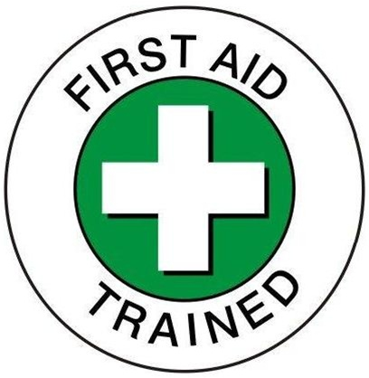 Hard Hat Stickers - FIRST AID TRAINED