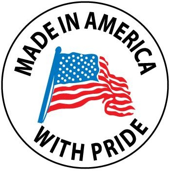 Made in America With Pride - Hard Hat Labels are constructed from Durable, Pressure Sensitive or Reflective Vinyl, Sold 25 per pack