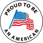 Proud to be an American - Hard Hat Labels are constructed from Durable, Pressure Sensitive Vinyl, Sold 25 per pack