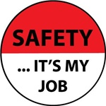 Safety ...It's My Job - Hard Hat Labels are constructed from Durable, Pressure Sensitive Vinyl, Sold 25 per pack