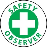 Safety Observer - Lock it Out - Hard Hat Labels are constructed from Durable, Pressure Sensitive Vinyl, Sold 25 per pack