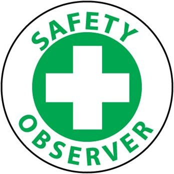 Safety Observer - Lock it Out - Hard Hat Labels are constructed from Durable, Pressure Sensitive or Reflective Vinyl, Sold 25 per pack