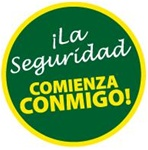 La Seguridad Comienza Conmigo! - Hard Hat Labels are constructed from Durable, Pressure Sensitive Vinyl, Sold 25 per pack