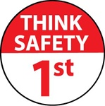 Think Safety 1st - Hard Hat Labels are constructed from Durable, Pressure Sensitive Vinyl, Sold 25 per pack