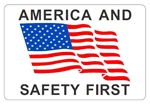 America and Safety First - Hard Hat Labels are constructed from Durable, Pressure Sensitive Vinyl, Sold 25 per pack
