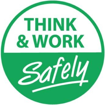 Think Amp Work Safely Hard Hat Labels