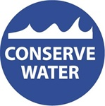 Conserve Water - Hard Hat Labels are constructed from Durable, Pressure Sensitive Vinyl, Sold 25 per pack