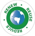 Renew Reuse Reduce Hard Hat Labels are constructed from Durable, Pressure Sensitive Vinyl, Sold 25 per pack